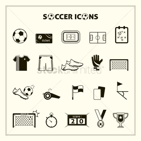 Medal : Collection of soccer icons