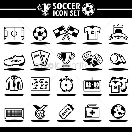 Soccer : Collection of soccer icons