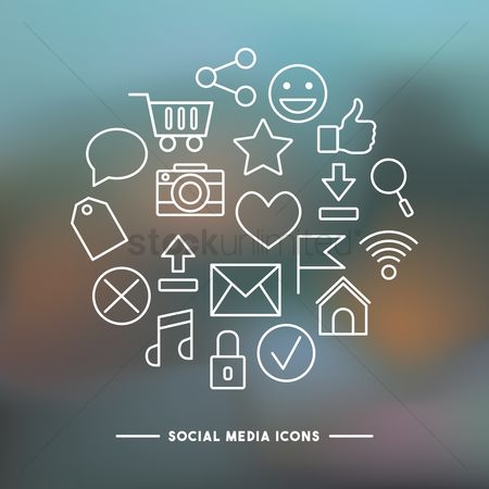 User interface : Collection of social media icon