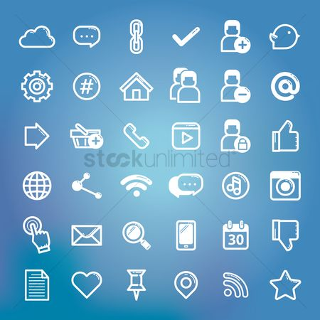 Email : Collection of social media icon