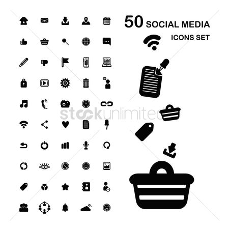 Delete : Collection of social media icon