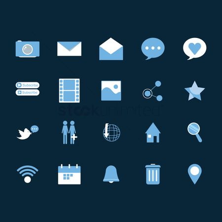 Notification : Collection of social media icons