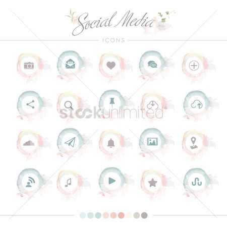 Uploads : Collection of social media icons