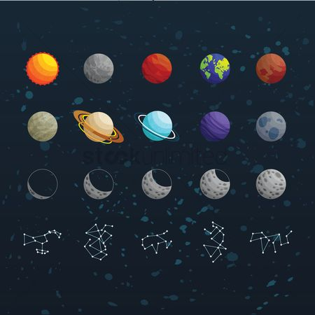 Moon : Collection of space icons