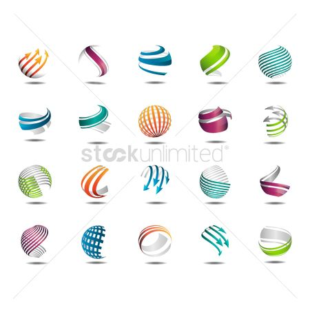 Logo : Collection of spherical logo elements