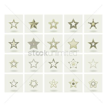 Pentagons : Collection of stars