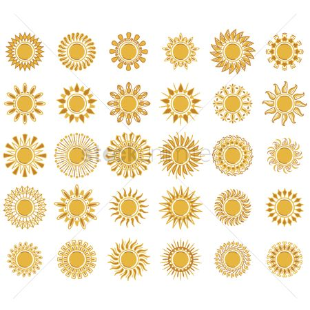 Warm : Collection of sun designs