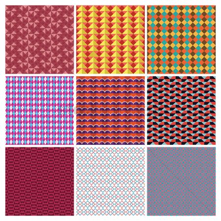 Grids : Collection of symmetrical design background