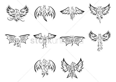Hawks : Collection of tattoo design