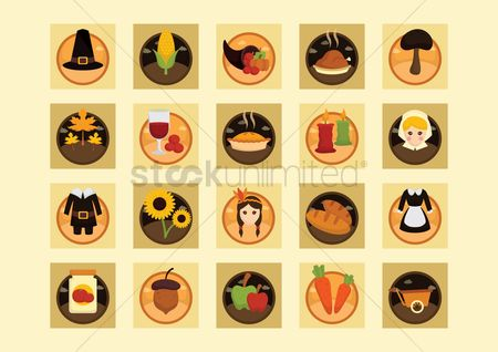 Jar : Collection of thanksgiving icons