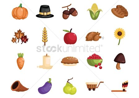 Hats : Collection of thanksgiving icons