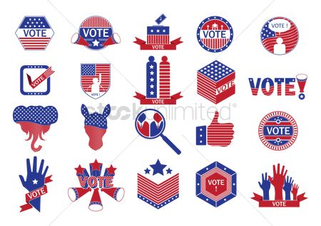 Votes : Collection of us election icons