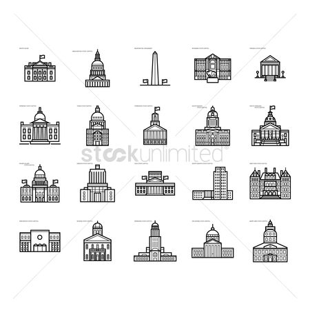 New york : Collection of usa government buildings