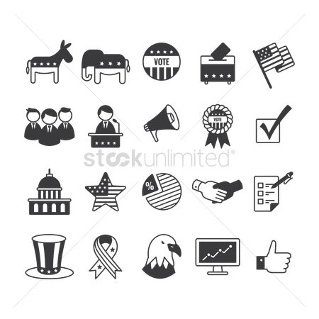 America : Collection of usa icons