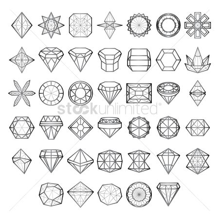 Geometrics : Collection of various diamond and polygon structures