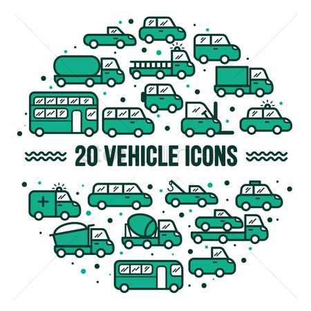 Lorries : Collection of vehicle icons