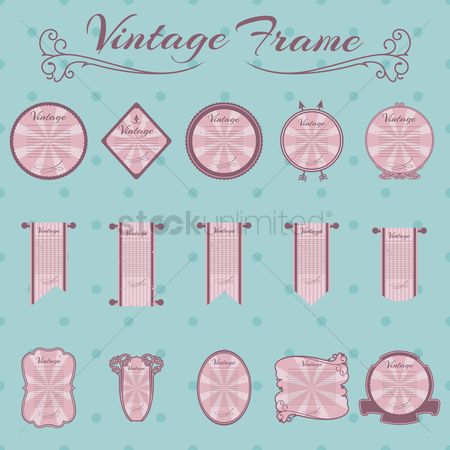 Vintage : Collection of vintage frames