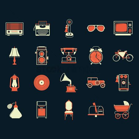 Screens : Collection of vintage items