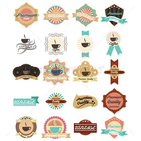 Coffee : Collection of vintage labels