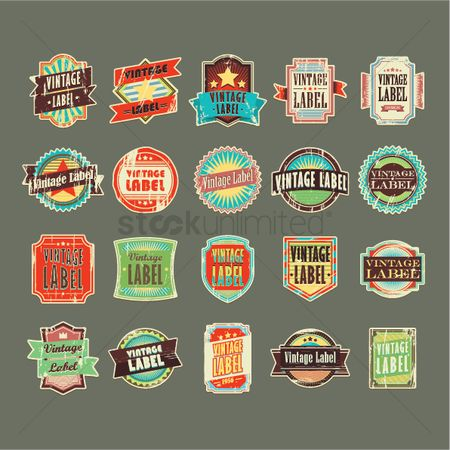 Retro : Collection of vintage labels
