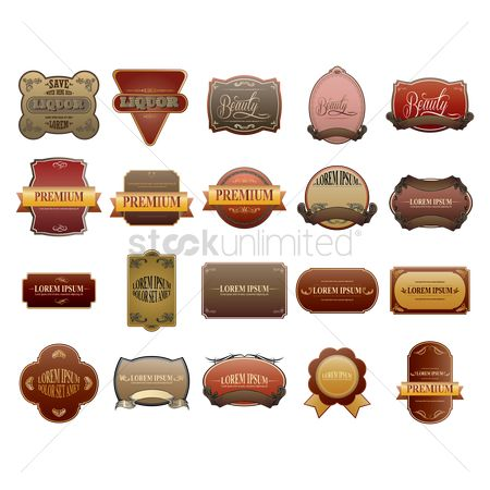 Insignia : Collection of vintage labels