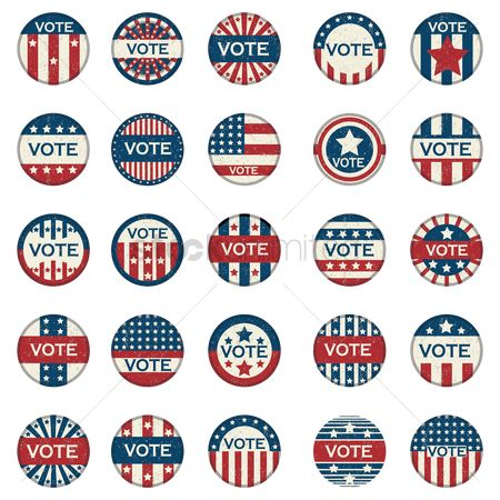 Votes : Collection of vote button badges