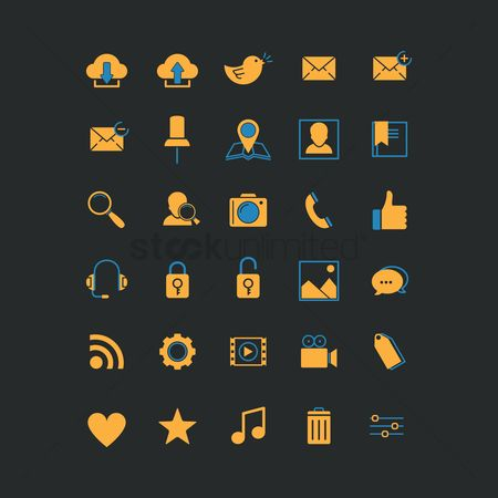 Love speech bubble : Collection of webpage icons
