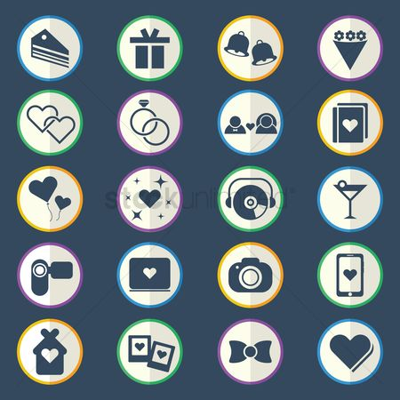 Handy : Collection of wedding icons
