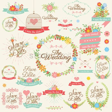 Sets : Collection of wedding reminders