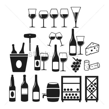 Grapes : Collection of wine icons
