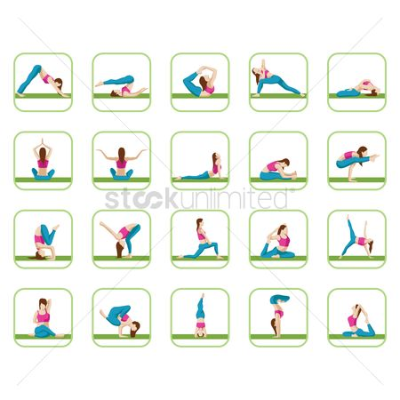 Royal : Collection of yoga poses