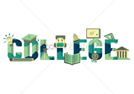 Typographics : College lettering design