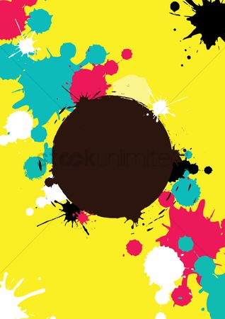 Backdrops : Color splatter background