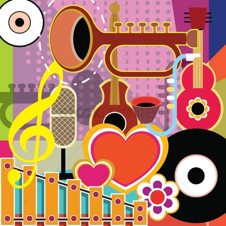 Musicals : Colorful abstract music background