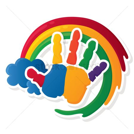 Rainbows : Colorful hand