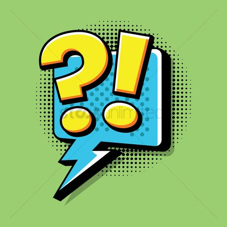 Vintage : Comic effect exclamation and question sign