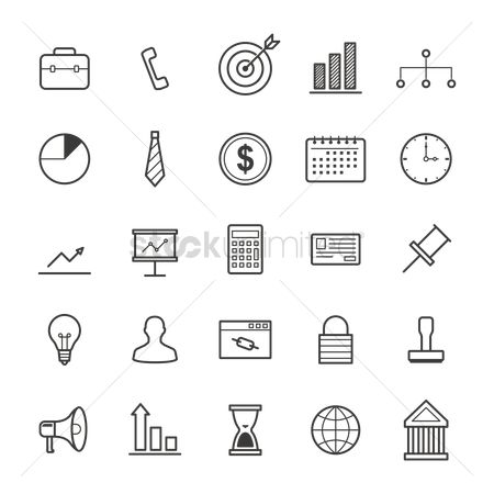 Password : Compilation of business icons