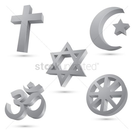 East : Compilation of symbols of religions