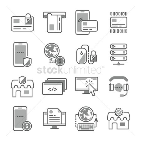 Shield : Compilation of technology related icons