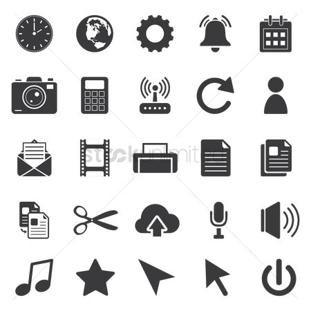 Email : Computer icon set
