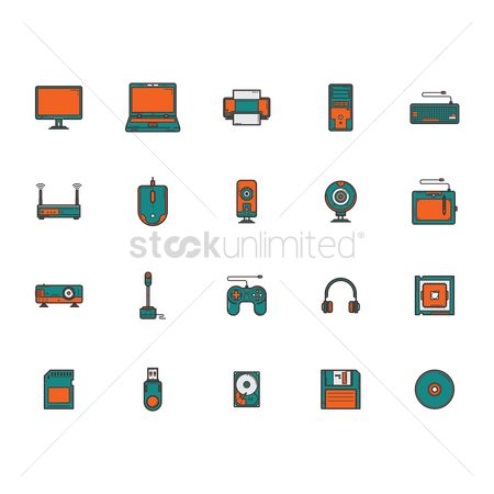 Chip : Computer icon set