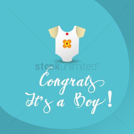 Free Congrats Its A Boy Stock Vectors Stockunlimited