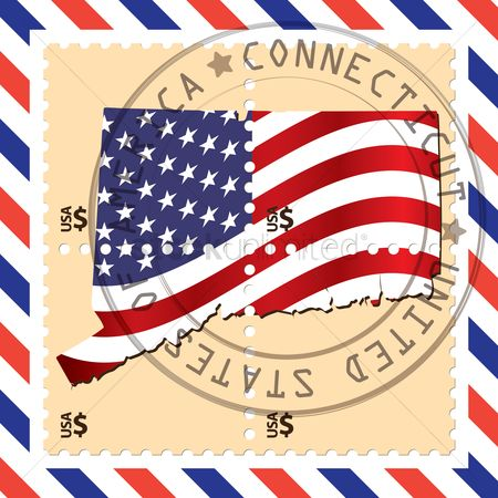 Connecticut : Connecticut stamp