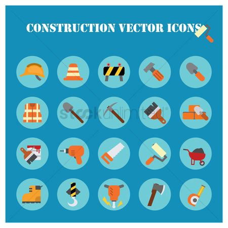 Barrier : Construction icons collection