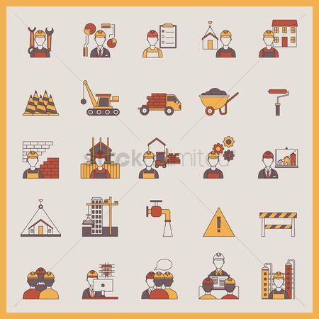 Building : Construction icons