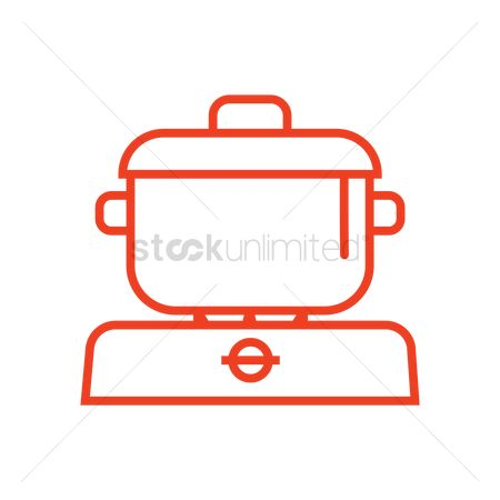 Gases : Cooking pot on stove