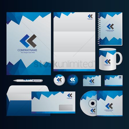 Polygonal : Corporate identity elements