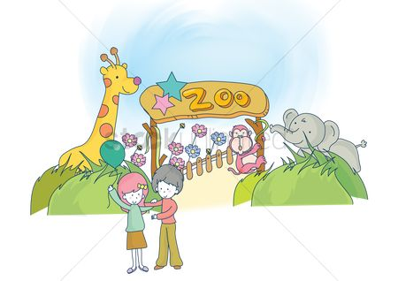 Zoos : Couple at the zoo