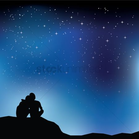 Shine : Couple looking at stars