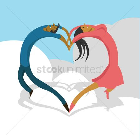 Valentines day : Couple making heart shape
